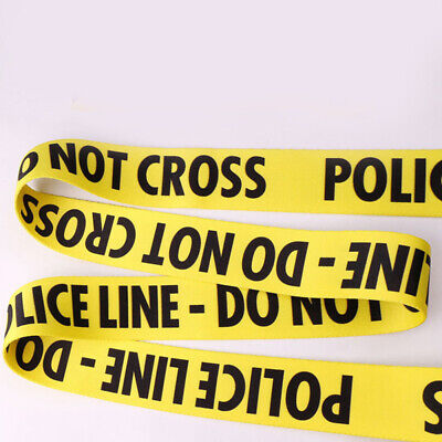 NEW Flexible Yellow Police Line Guitar Strap Durable Belt Acoustic Bass