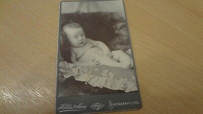 C 1890's Victorian Cabinet Photograph. Very  Young Baby Photo