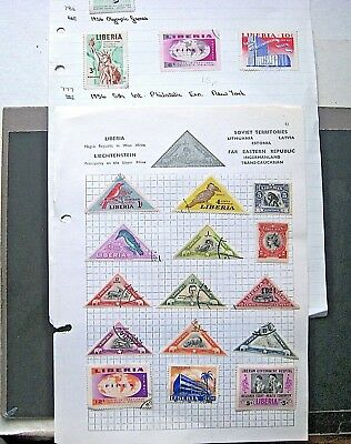 Unchecked Selection Of Liberia Stamps.  Lot#457