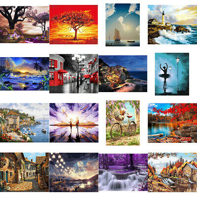 DIY Paint By Number Kit Digital Oil Painting Art Scenery Wall Home Decor Novelty