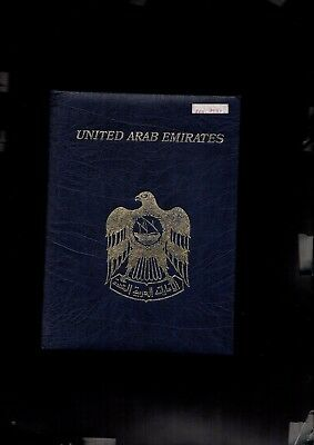 book 9         United Arab Emirates Minister book Rare MNH
