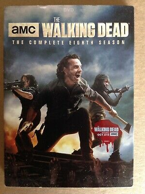 The Walking Dead, The Complete Eighth Season 8 (DVD, 5-Disc Set) With Slipcover