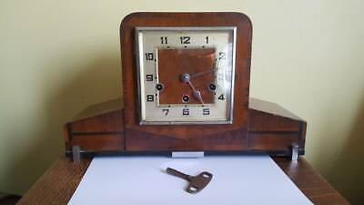 Antique Art Deco 1920's 30's HALLER Large Westminster Chimes Mantle Clock