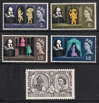 GB 1964 Commemorative Stamps~Shakespeare~Unmounted Mint Set~UK Seller