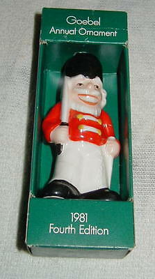 1981 Goebel Annual Porcelain Christmas Ornament, Toy Soldier, 4Th Edition