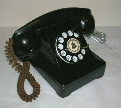 Bell System Western Electric WE Model 302 Black Rotary Telephone ca 1949