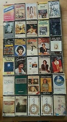 Job lot 30 original cassettes 70s, 80s, 90s, various inc Byrds, Vangelis