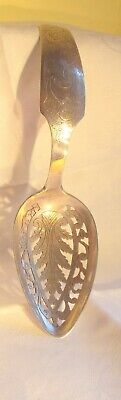 Antique Dutch Silver Hallmarked Tea Strainer  unusual design 1848