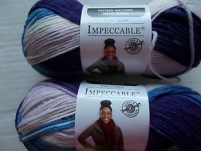 Loops&Threads Impeccable yarn, Purple Impression Variegated,lot of 2(187 yds ea)