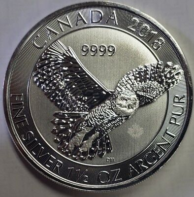 2018 Canada SNOWY OWL $8 coin - 1.5 oz .9999 pure silver SOLD OUT!! Low Mintage!