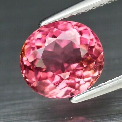 2.69ct 8.6x8mm Oval Natural Unheated Pink Tourmaline, Mozambique