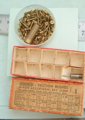 Clock maker Fusee mantel clock drilled brass bushes handy Mixed sizes repairer