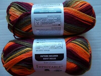 Loops&Threads Impeccable yarn, Falling Leaves,  lot of 2 (192 yards each)