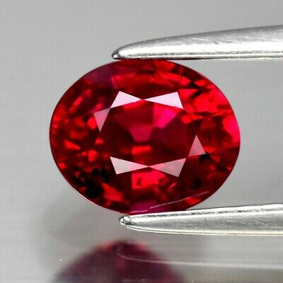 CERTIFICATE Inc.*0.99ct 6.3x5.2mm VS Oval Natural Red Ruby *Heated Only No Glass