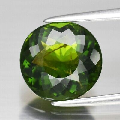 2.65ct 9.7x9.3mm Oval Natural Unheated Green Tourmaline, Mozambique