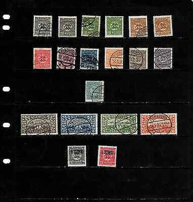 Schleswig: Nice  1920 Stamp Collection Mint & Used Displayed On 1 Sheet