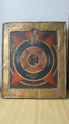Icona Russa,Antique Russian Orthodox icon,,God Eye,, from 19c.