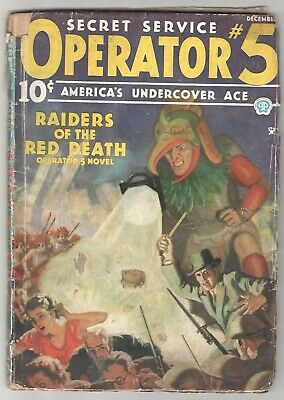 Operator # 5 Raiders Of The Red Death December 1935 Vol 6 No 1 Usa Pulp Fiction