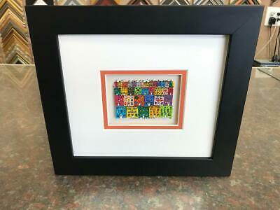 "James Rizzi 3-D "" Urban Terrian "" Signed & Numbered 1990 Mini Lost in Concrete"
