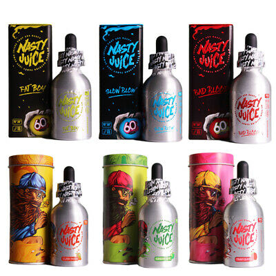 Nasty Juice E-Liquid Vape Juice *ALL FLAVOURS*60ml shortfill 0mg ALL series
