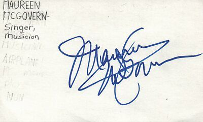 Maureen McGovern Singer Musician Pop Music Autographed Signed Index Card