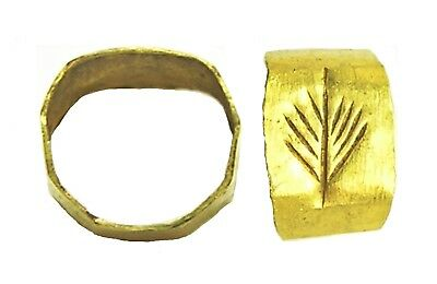 1st - 3rd century A.D. Ancient Roman Gold Finger Ring Victory Palm