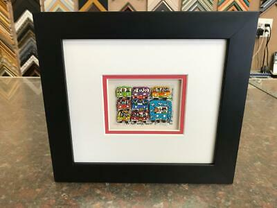 "James Rizzi 3-D "" No Two Ways About It "" Signed & Numbered 1990 Mini Framed"