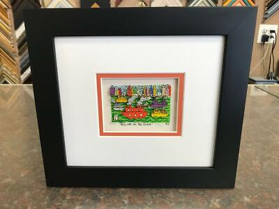 "James Rizzi 3-D "" Rolling on the River "" Signed & Numbered 1990 Mini Framed"
