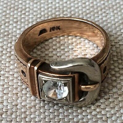 10k 10 k Solid Rose Gold Silver Ring Size 9.5 Scrap 11.6 Grams