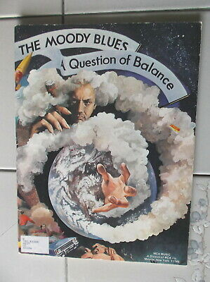 The Moody Blues A Question Of Balance Rock Music Song Book Mca Music 1970 New Op
