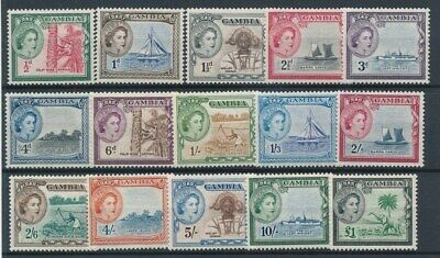 [70830] Gambia 1953 good set Very Fine MH stamps Value $100