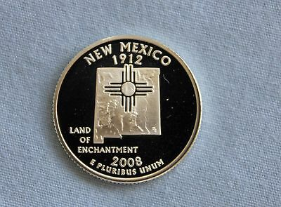 2008-S New Mexico Silver Proof State Quarter Ultra Deep Cameo