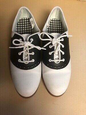 Predictions Black and White Swing Cheer Saddle Oxford Shoes  Sz10 Worn 1 Time