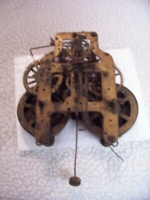 Seth Thomas 8 day back mount mantel clock movement for parts or repair/5 7/8