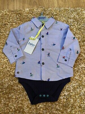 Ted Baker Baby Boy Shirt / Polo Shirt / Body Suit 9-12 Months - Very Smart