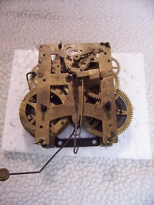 New Haven 8 day Back mount mantel clock movement for parts or repair