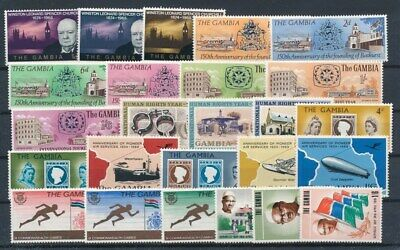 [G99849] Gambia good lot Very Fine MNH stamps