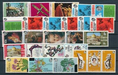 [G99853] Gambia good lot Very Fine MNH stamps