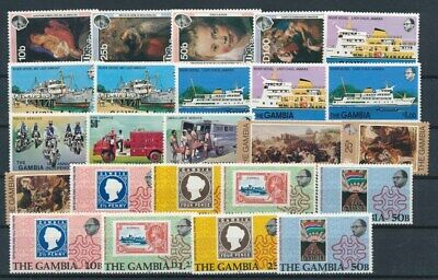 [G99854] Gambia good lot Very Fine MNH stamps