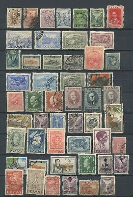 Greece : Very nice lot with older stamps - mint and used