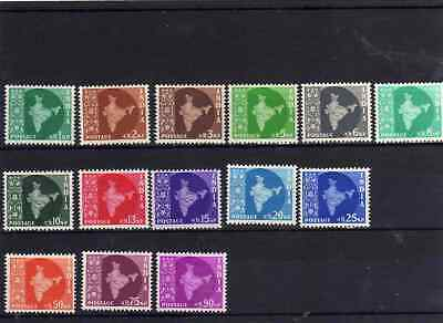 India 1957 set lmm/mm sg 375/385 cat. £32
