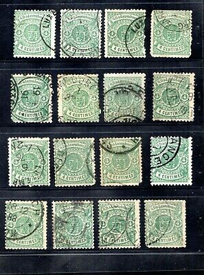 1419   Luxembourg dealer stock very early classics used fantastic cancelation
