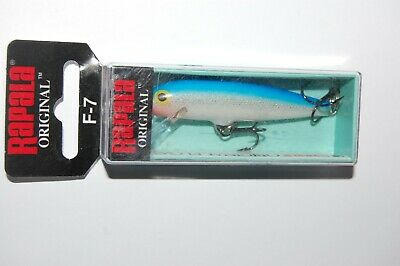 "rapala f-7 s f07 silver bass balsa lure 2 3//4/"" 1//8 oz minnow lure floating"