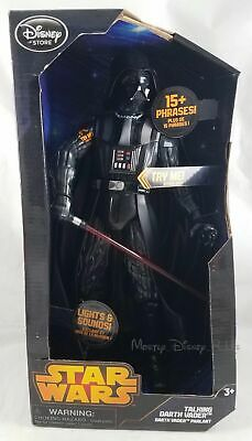 "Disney Store Star Wars Talking Darth Vader 14.5"" Action Figure W/ Movie Phrases"