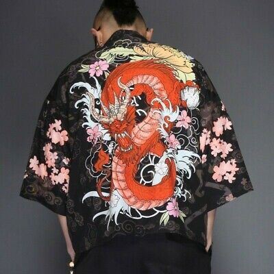 Men Japan Kimono Dragon.NEW.imported from japan.very.SIZE XL(JAPAN) o M(EUROPE)