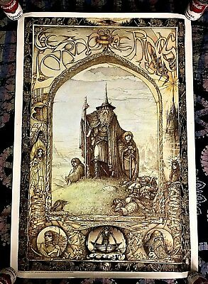 1988 Lord Of The Rings -Switzerland- 27X39 Middle Earth Art Poster Jrr Tolkien