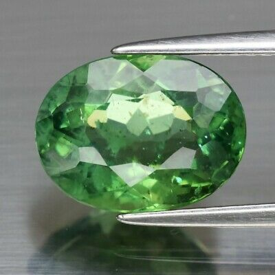 3.86ct 11.2x8.5mm Oval Natural Unheated Green Apatite, Brazil