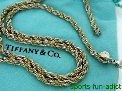 32a58d8e8 Retired TIFFANY & CO 18K Yellow Gold & Sterling Twisted Rope Necklace ...