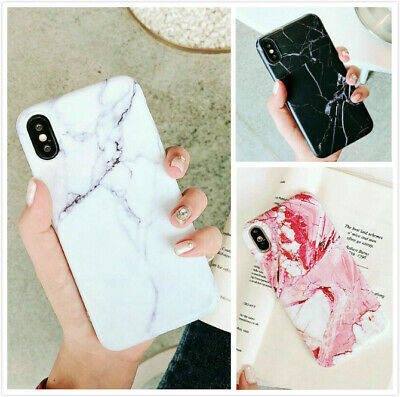 Slim Fit Marble Case Soft TPU Protective Covers For iPhone 7 8 Plus Xs Max XR X