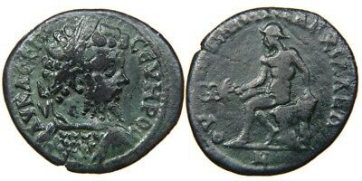 THRACE, ANCHIALUS, Septimius Severus, AD 193-211, Large AE 29mm, HERMES.